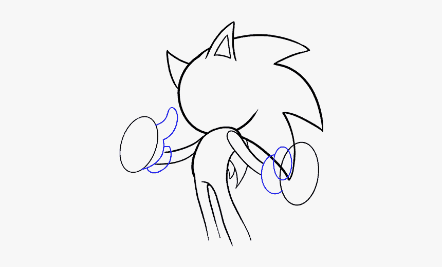 How To Draw Sonic The Hedgehog Hd Png Download Kindpng