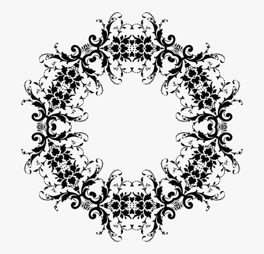 Transparent Christmas Wreath Clipart Black And White, HD Png Download, Free Download