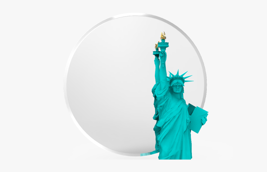 "Round Beveled Mirror 18"", HD Png Download, Free Download"