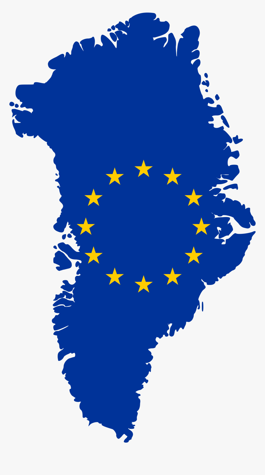 Flag Map Of Greenland Eu, HD Png Download, Free Download