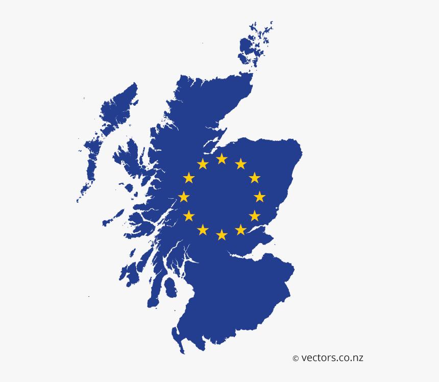 Eu Flag Vector Map Of Scotland, HD Png Download, Free Download