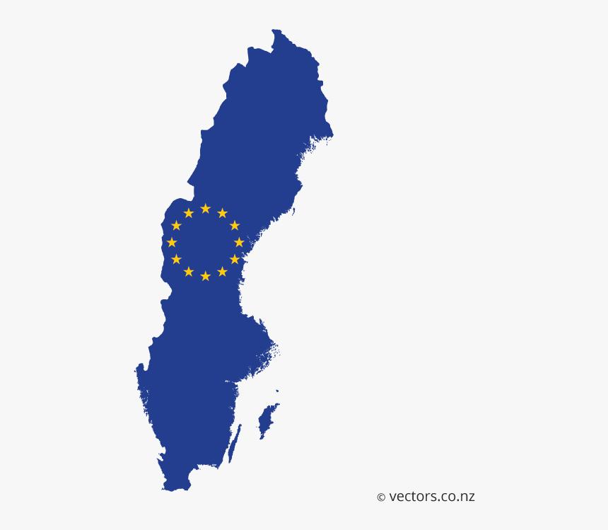 Map Of Sweden Flag , Png Download, Transparent Png, Free Download