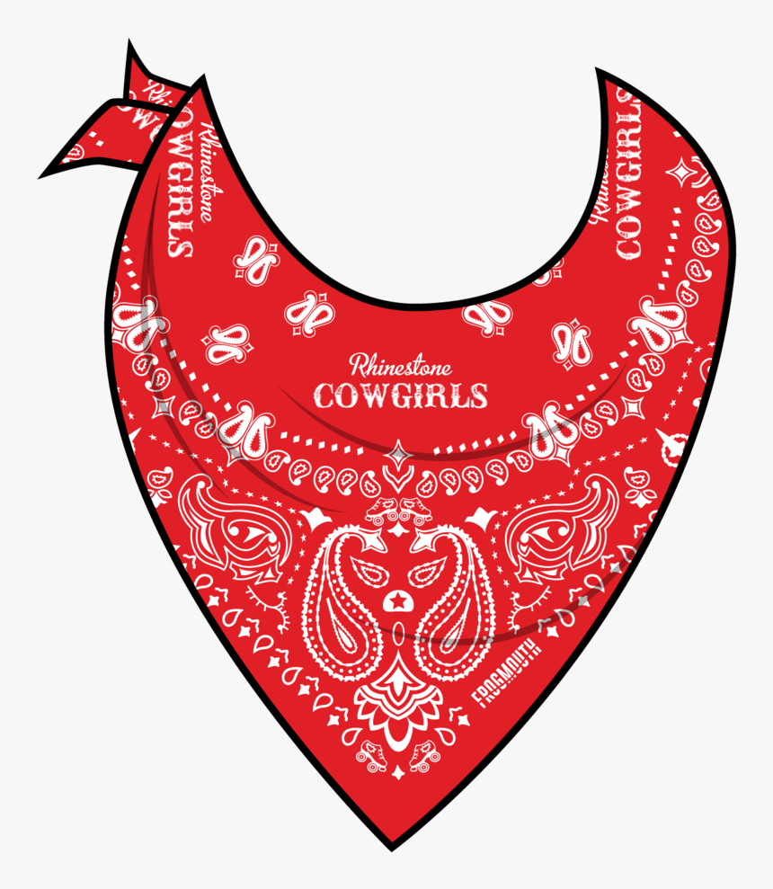 Txrd Rhinestone Cowgirls Reversible Bandana Frogmouth - Red Bandana Neck Png, Transparent Png, Free Download