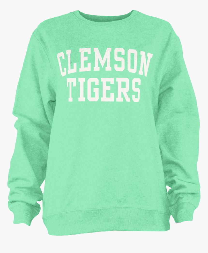 "Clemson Tigers Pigment Crewneck Sweatshirt""  Class=""lazyload - Long-sleeved T-shirt, HD Png Download, Free Download"