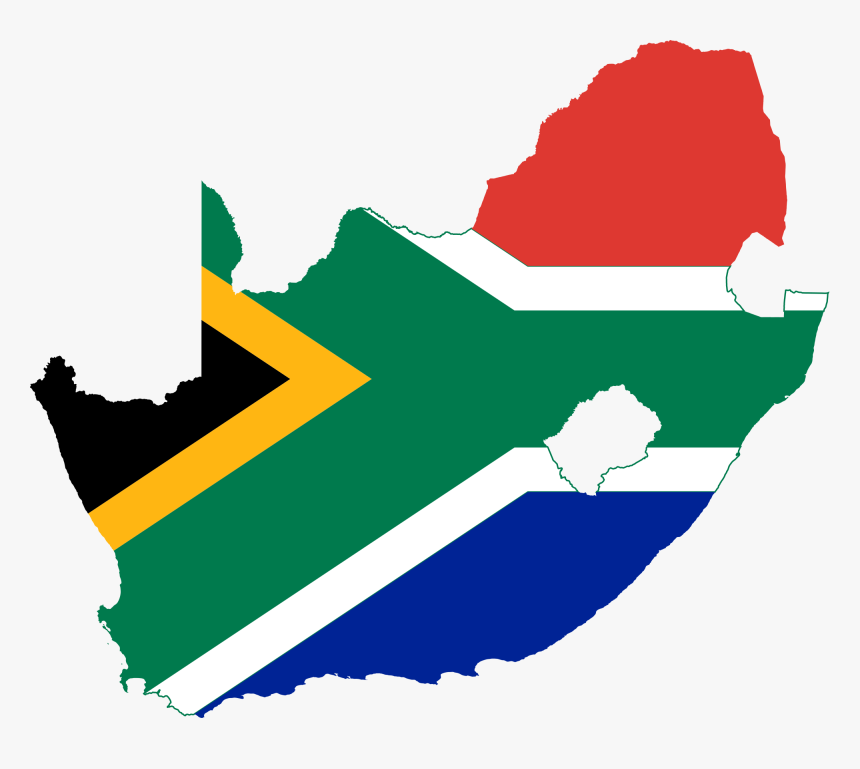 Transparent Tyranny Clipart - South Africa Flag Map, HD Png Download, Free Download