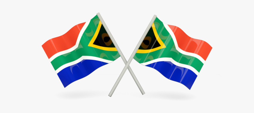 Two Wavy Flags - South African Flags Png, Transparent Png, Free Download