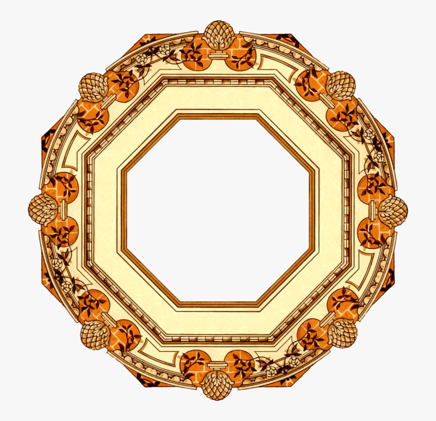 Picture Frame,circle,gold - Circle, HD Png Download, Free Download