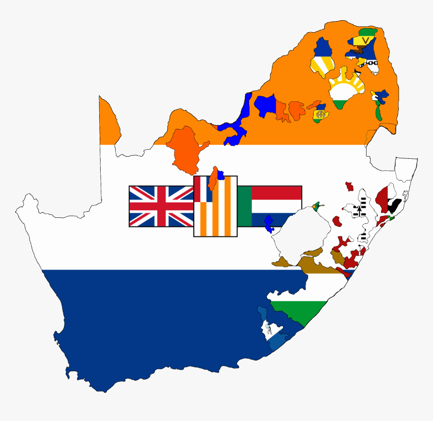 Flag Map Of South Africa 1928-1994 - Old South Africa Flag, HD Png Download, Free Download