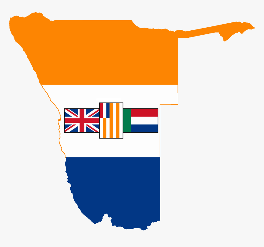 Flag Map Of South West Africa - South Africa In South West Africa, HD Png Download, Free Download