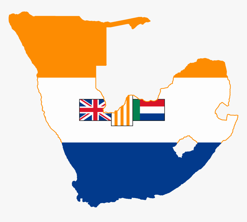 Clip Art Library Library File South Flag Map - South Africa And Southwest Africa, HD Png Download, Free Download