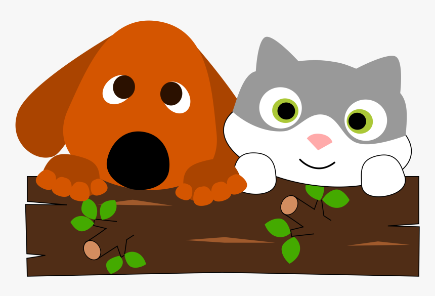 Dogs And Cats Yarn Png - Cat And Dog Playing Clipart, Transparent Png, Free Download