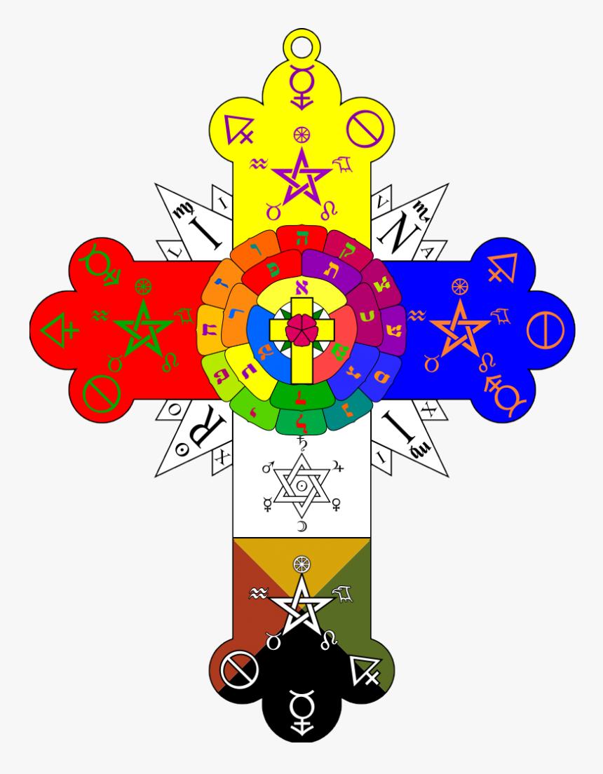Golden Dawn Rose Cross, HD Png Download, Free Download