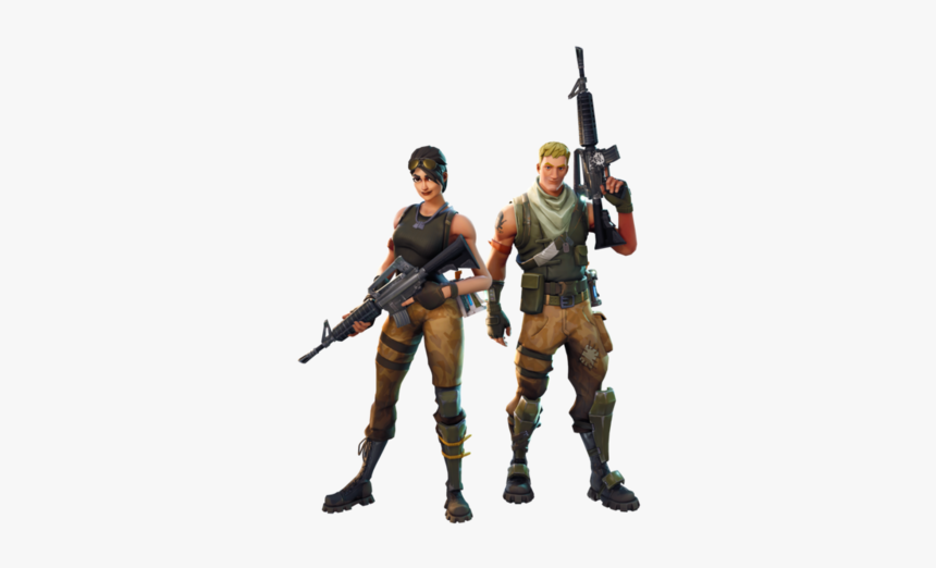 Toy Army Royale Fortnite Battle Battlegrounds Playerunknown - Fortnite Characters With Guns, HD Png Download, Free Download