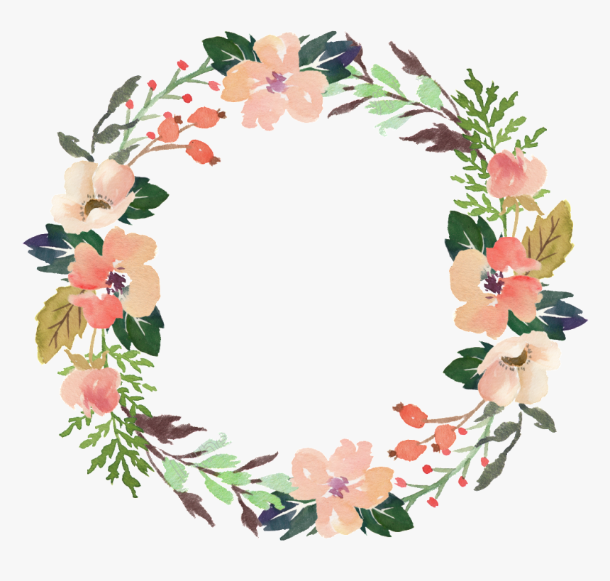 light pink flower wreath transparent ornament vector transparent background flower wreath png png download kindpng light pink flower wreath transparent