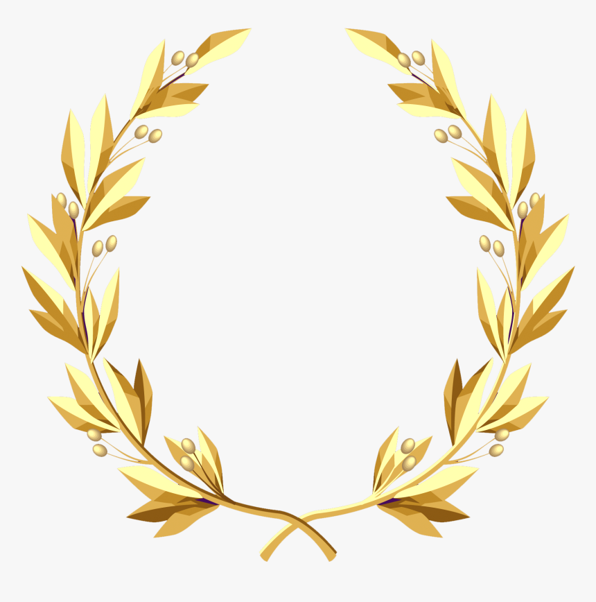 Laurel Wreath Border Png - Gold Laurel Wreath Transparent, Png Download, Free Download