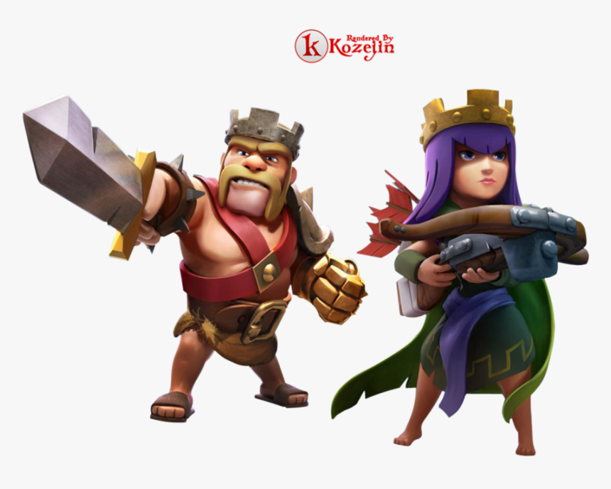 Barbarian King And Archer Queen, HD Png Download - kindpng