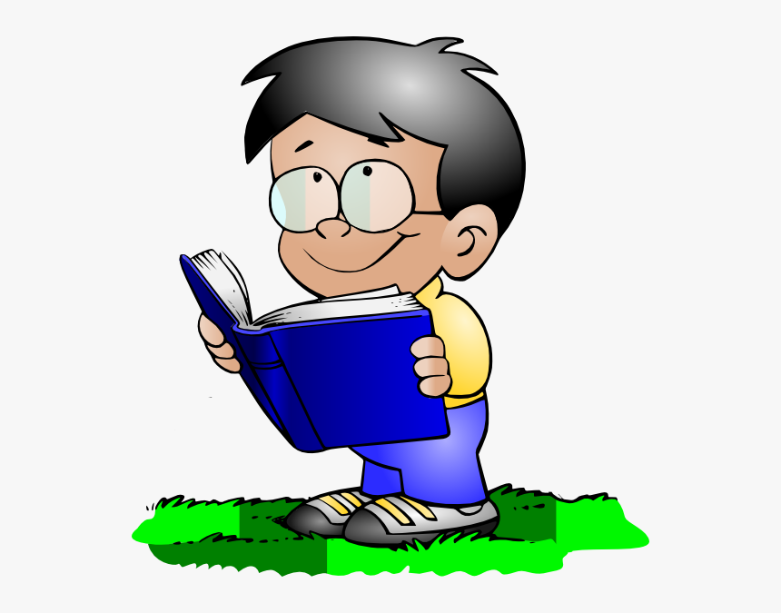 Free Children Read The Books Clipart Image Kids Reading School Boy Clip Art Hd Png Download Kindpng