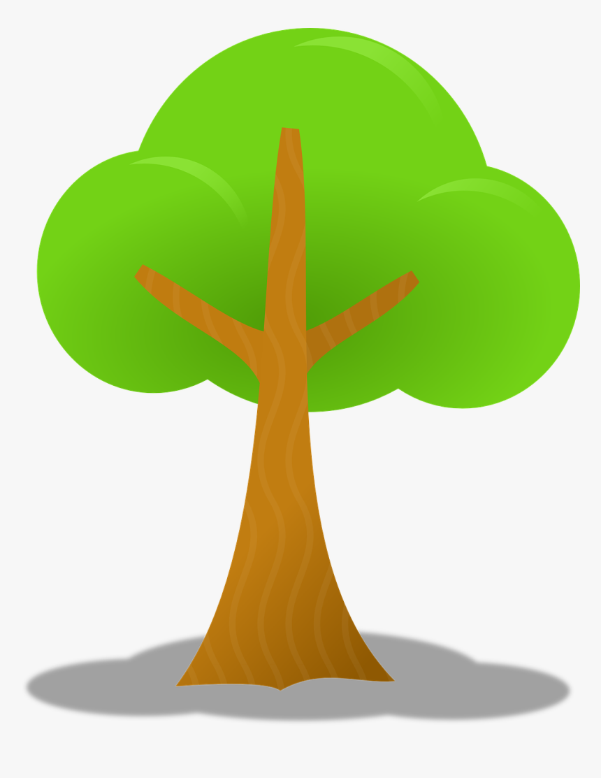 Tree With Shadow Clipart, HD Png Download, Free Download