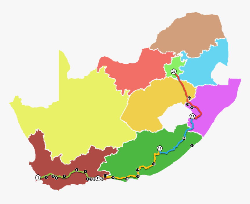 Transparent Travel The World Clipart - South Africa Map Terrain, HD Png Download, Free Download