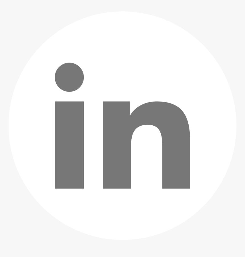 White Circle Linkedin Icon White Linkedin Icon Png