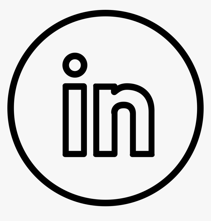 Transparent Linkedin Logo Png Black Circle Png Download