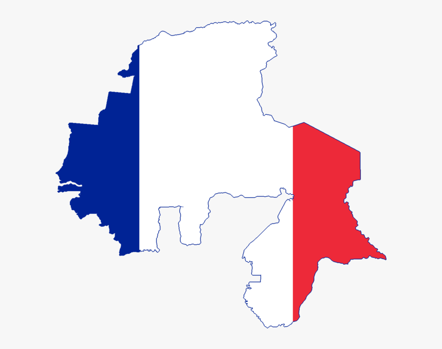 Flag Map Of French West Africa And North Africa - French West Africa Flag Map, HD Png Download, Free Download