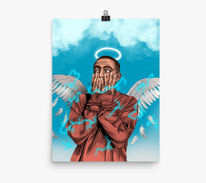 Image Of Mac Miller Premium Gloss Poster - Mac Miller With Wings, HD Png Download, Free Download