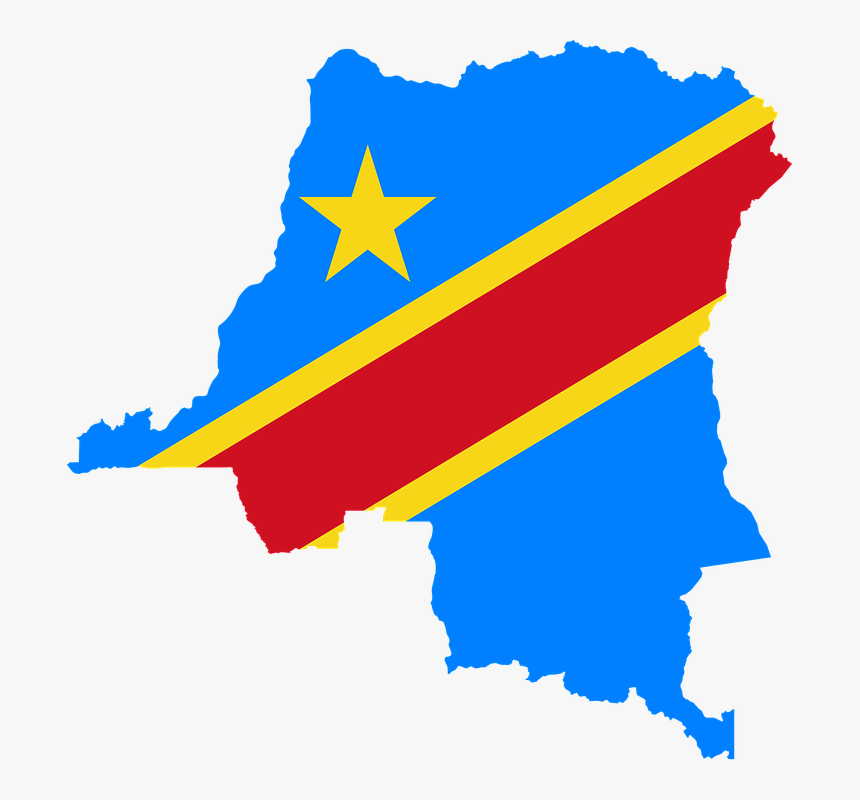 Democratic Republic Of The Congo Flag Map, HD Png Download, Free Download