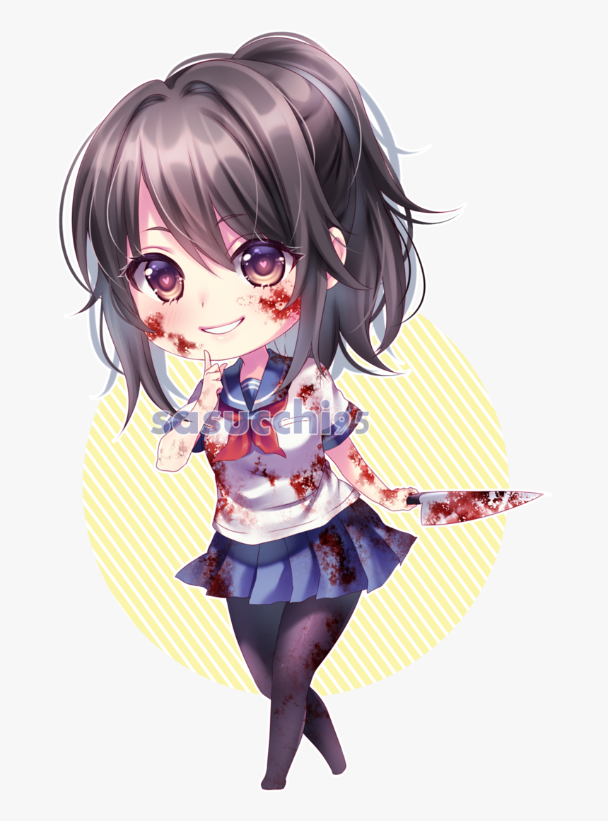 Transparent Yandere Png - Chibi Yandere Chan, Png Download, Free Download