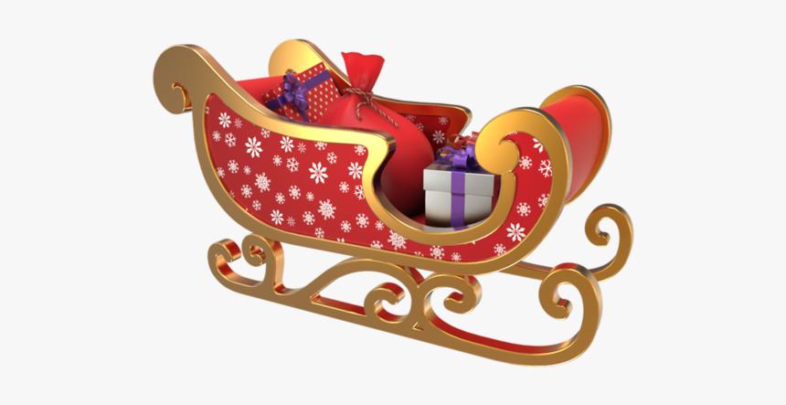 Vendanges Claus Sled Reindeer Santa Graphics Christmas - Santa Claus, HD Png Download, Free Download