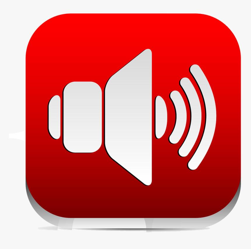 Speaker Symbol Red, HD Png Download, Free Download