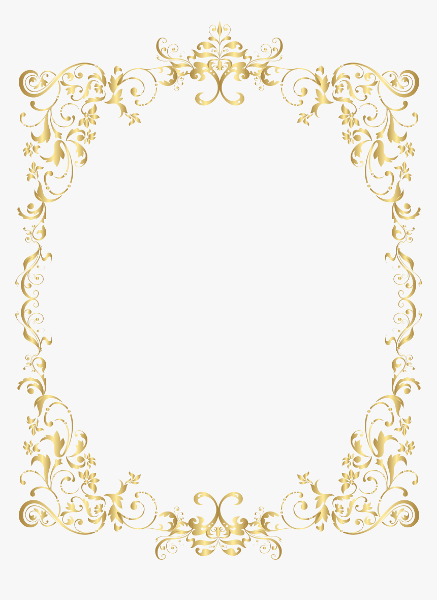 Transparent Border Gold Png - Gold Decorative Frames Png, Png Download, Free Download