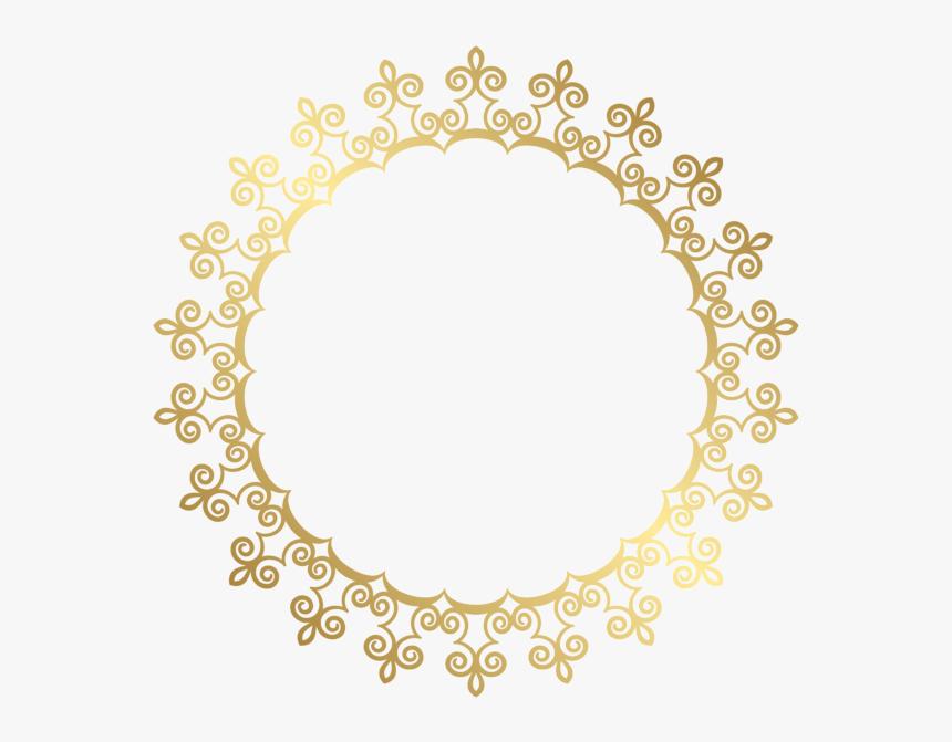 Download Gold Border Frame Png Hd For Designing Projects - Gold Circle Border Transparent, Png Download, Free Download