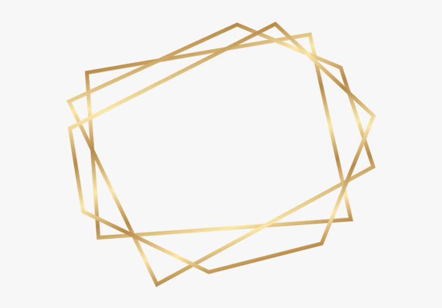 Transparent Geometric Border Png - Gold Geometric Frame Png, Png Download, Free Download
