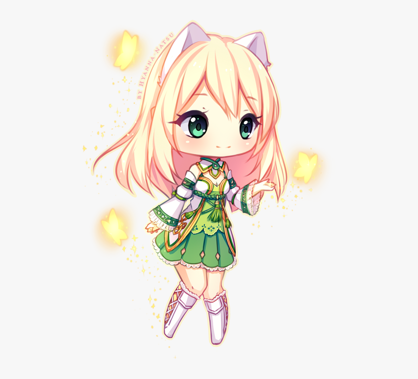 Transparent Natsu Chibi Png - Anime Wolf Girl Drawing, Png Download, Free Download