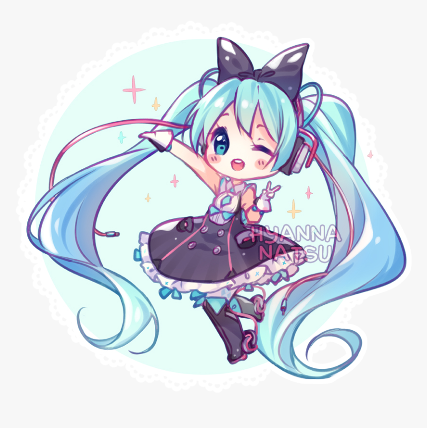 Transparent Chibi Miku Png, Png Download, Free Download