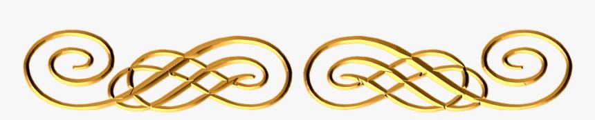 Rose Gold, Ornamental, Flourish, Border, Dark Gold - Gold Design Transparent Background, HD Png Download, Free Download