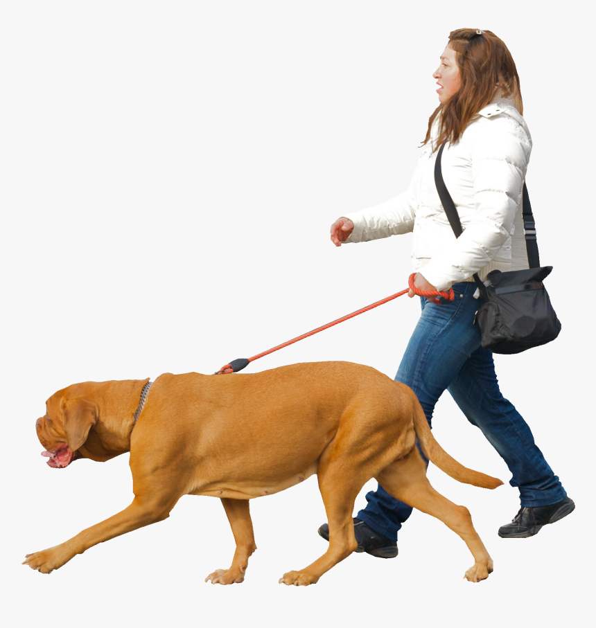 Man With Dog Png, Transparent Png, Free Download