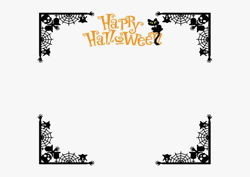 Halloween Border Png Free Download - Transparent Background Halloween Border, Png Download, Free Download