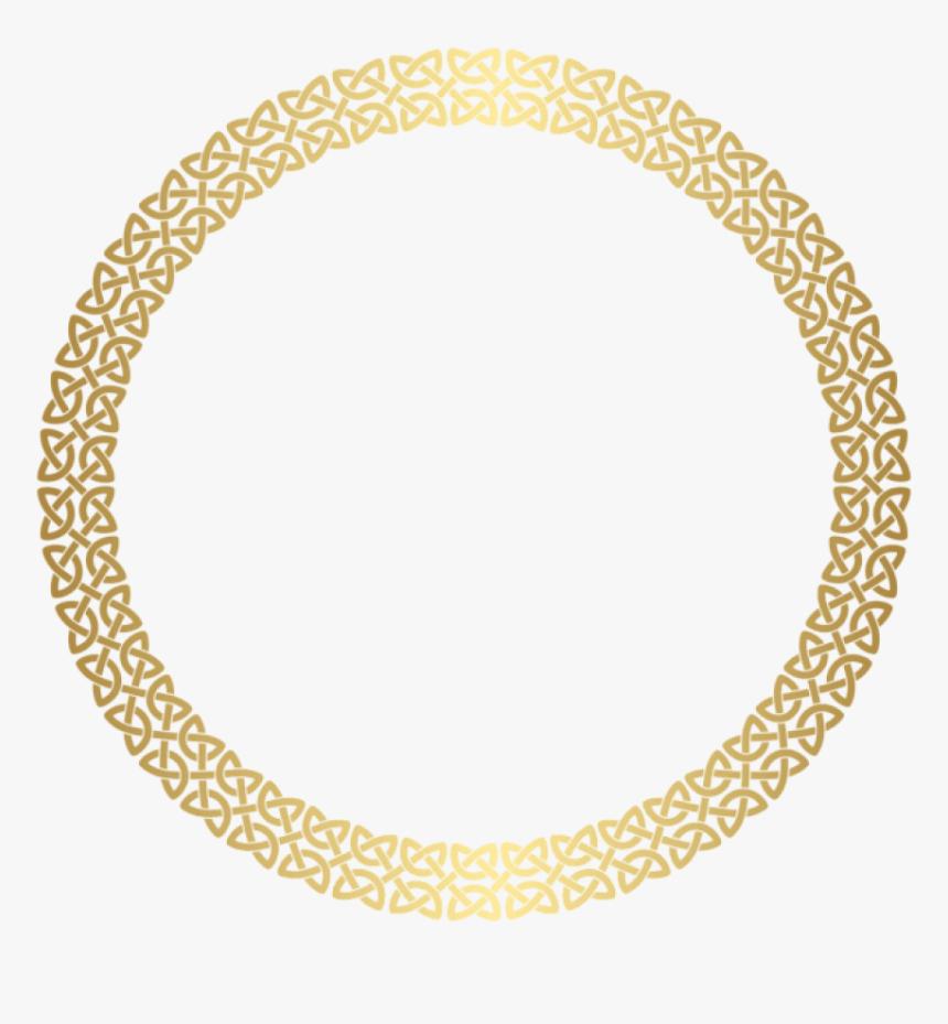 Golden Round Frame Png, Transparent Png, Free Download