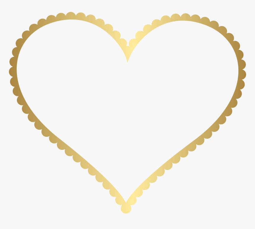 Gold Heart Border Frame Transparent Png Clip Art, Png Download, Free Download