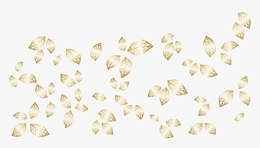 Golden Decorative Leaves Vector Png Clipart Invertebrate Transparent Png Kindpng