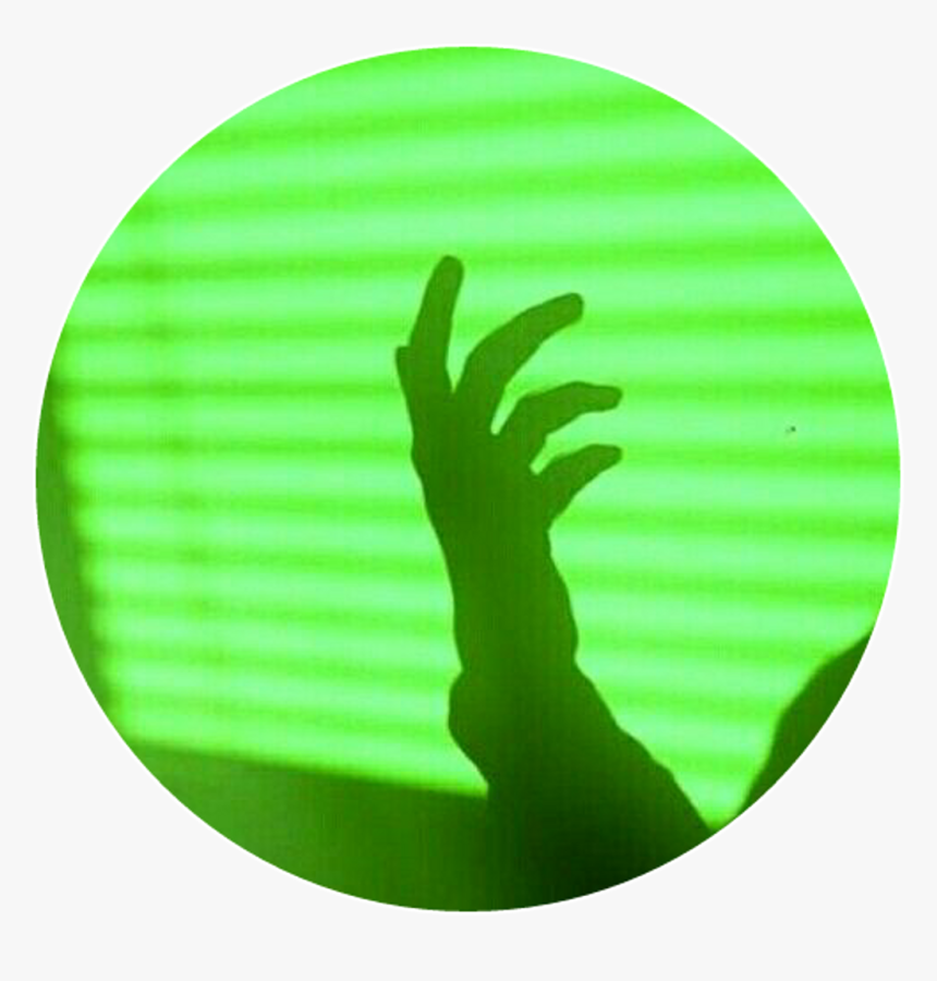 Green Light Hand Shadow Monster Colorsplash Colorful, HD Png Download, Free Download