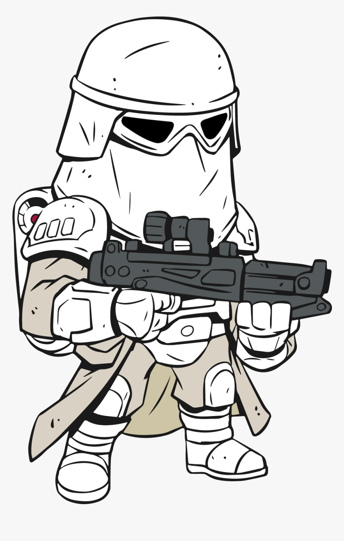 Star Wars Cartoon Drawing At Getdrawings, HD Png Download, Free Download