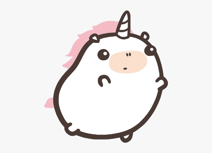 Kawaii Unicorn Cute Chubby Fat Horn Magic Magical Hd Png Download Kindpng