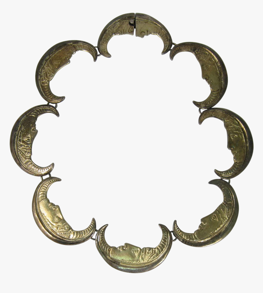 Vintage Crown Trifari Unusual Crescent Moon Face Necklace, HD Png Download, Free Download