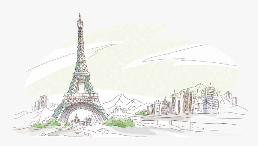 Eiffel Tower 58 Tour Eiffel Drawing Wallpaper Hd Png