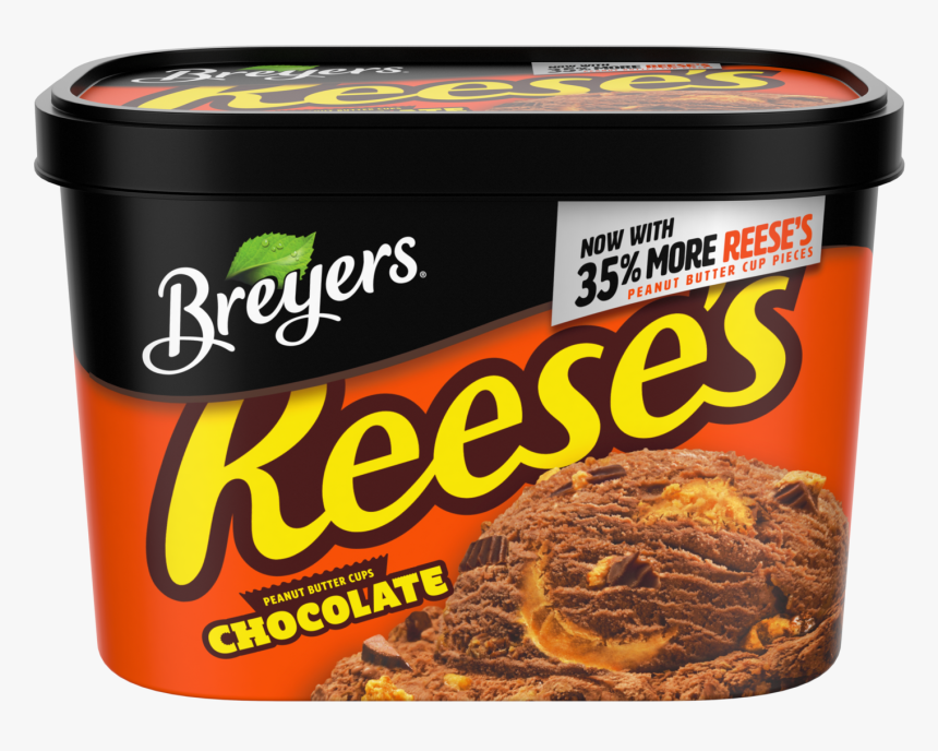 """A 48 Ounce Tub Of Breyers Reese""""s Chocolate Front Of, HD Png Download, Free Download"""