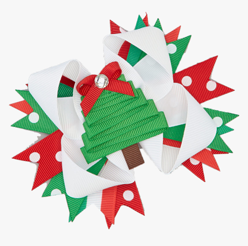 Green Christmas Bow Png, Transparent Png, Free Download