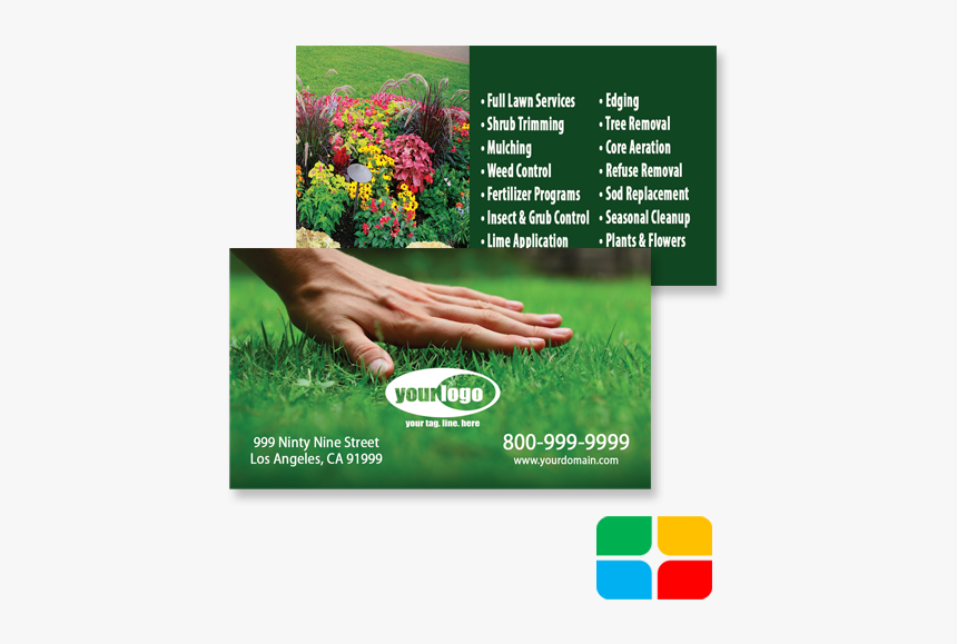 Landscaping Business Cards La010002, HD Png Download, Free Download